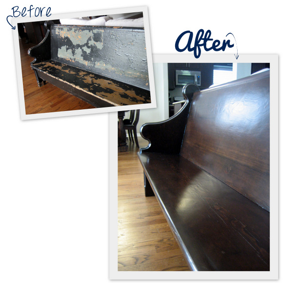 Our new church pew: before and after the restoration work | DIY Playbook