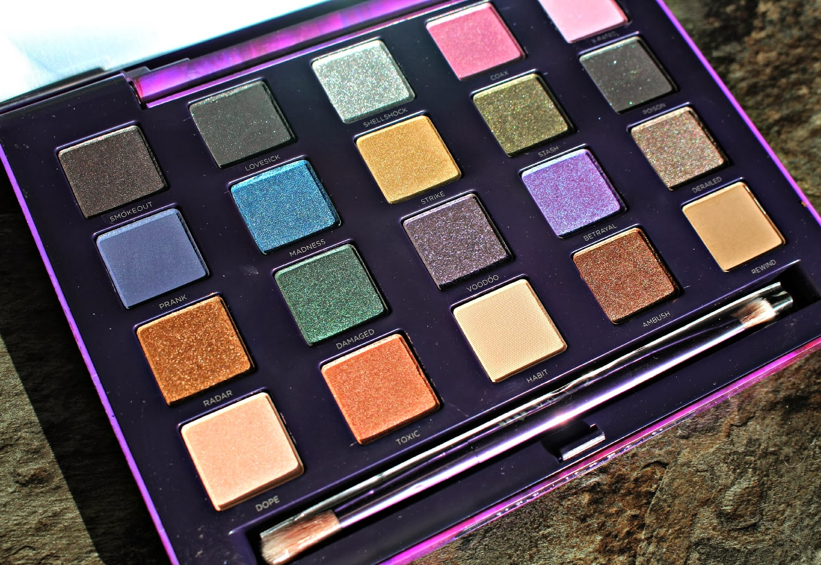 urban decay, vice 2, holiday collection, eyeshadow palette, swatches, urban decay vice 2, swatchfest, kitsch vixen