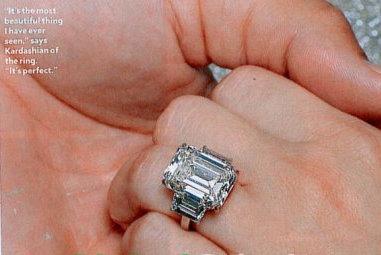 Josies Juice Kim Kardashians Engagement Ring
