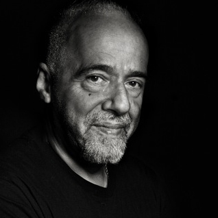 Paulo Coelho in black &amp; white