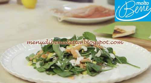 Fusion salad e crostini golosi ricetta Parodi per Molto Bene su Real Time