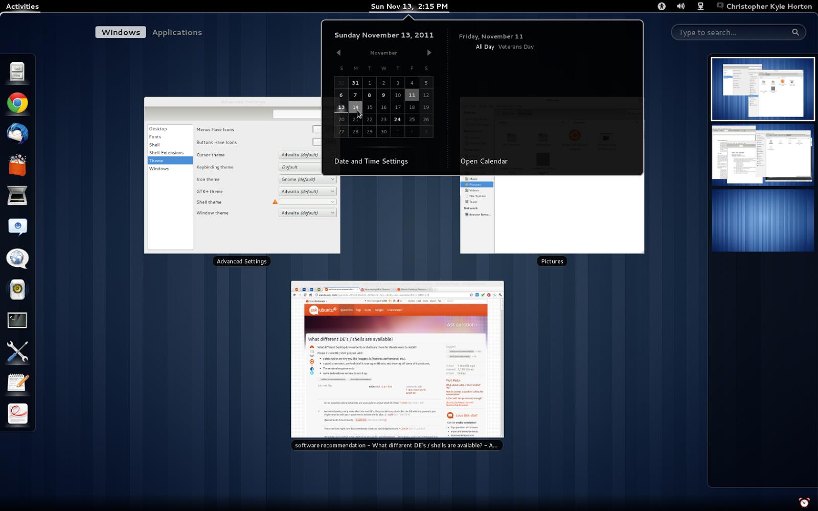 Gnome Shell Desktop Environment