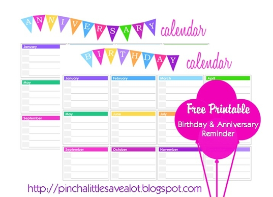 Birthday Calendars : Download here