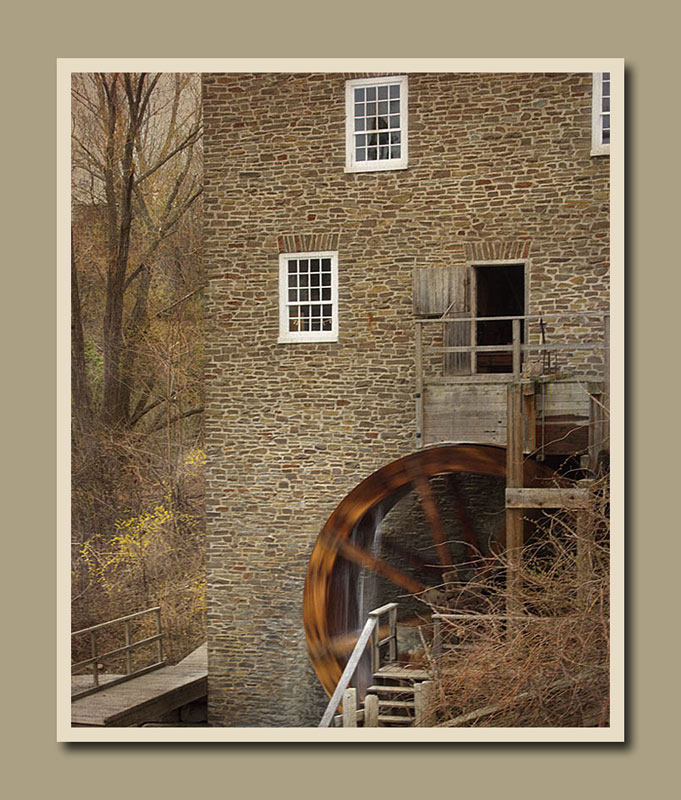 The repaired wheel now turning on Roblin's Mill at Black Creek Pioneer Village.  Holly Cawfield Photography