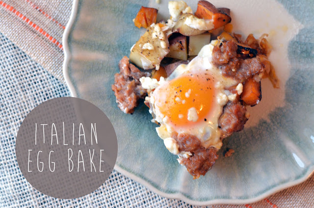 Italian Egg Bake! Perfect for an afternoon brunch!
