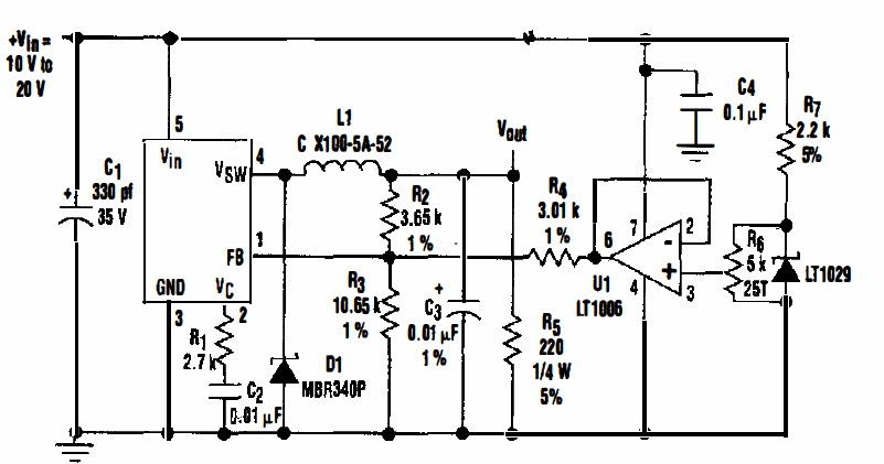 5 volt variable power supply circuit