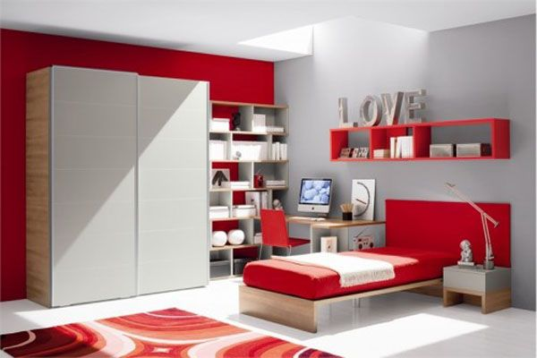 red room for girl room ideas or girls room decorating ideas 3