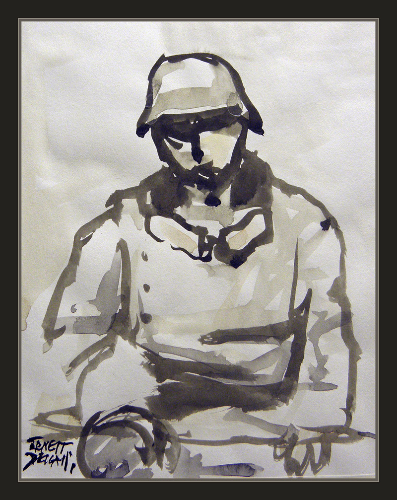 WW2-ART-SEGUNDA GUERRA MUNDIAL-ARTE-PINTURA-SOLDADOS-MOTOCICLISTAS-PINTOR-ERNEST DESCALS