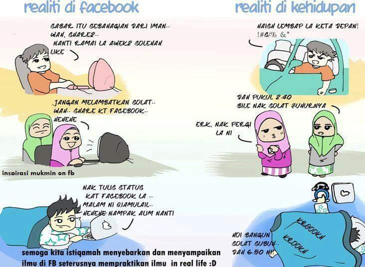 Realiti di Facebook VS Realiti Kehidupan