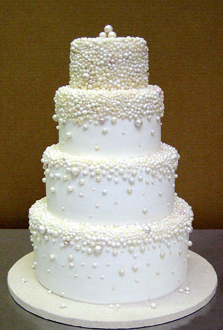 Pasteles de boda blanco para las bodas de invierno