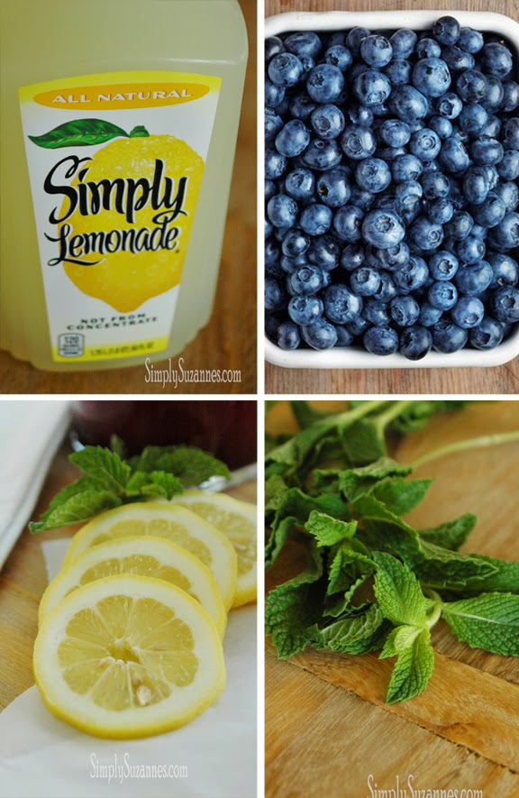 Simply Suzanne's AT HOME: fresh blueberry & mint lemonade
