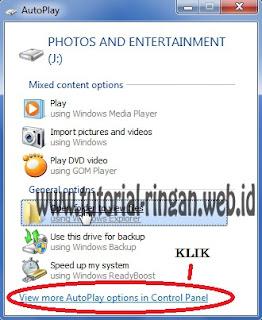 Cara kedua untuk masuk menu AutoPlay