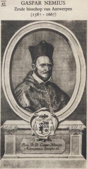 Gaspar Nemius 1587-1667, zesde bisschop van Antwerpen.