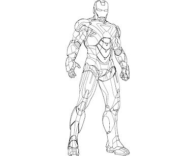 #12 Iron Man Coloring Page