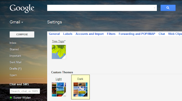 custom themes in gmail