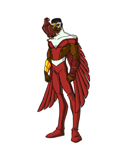 Falcon Superhero Cartoon