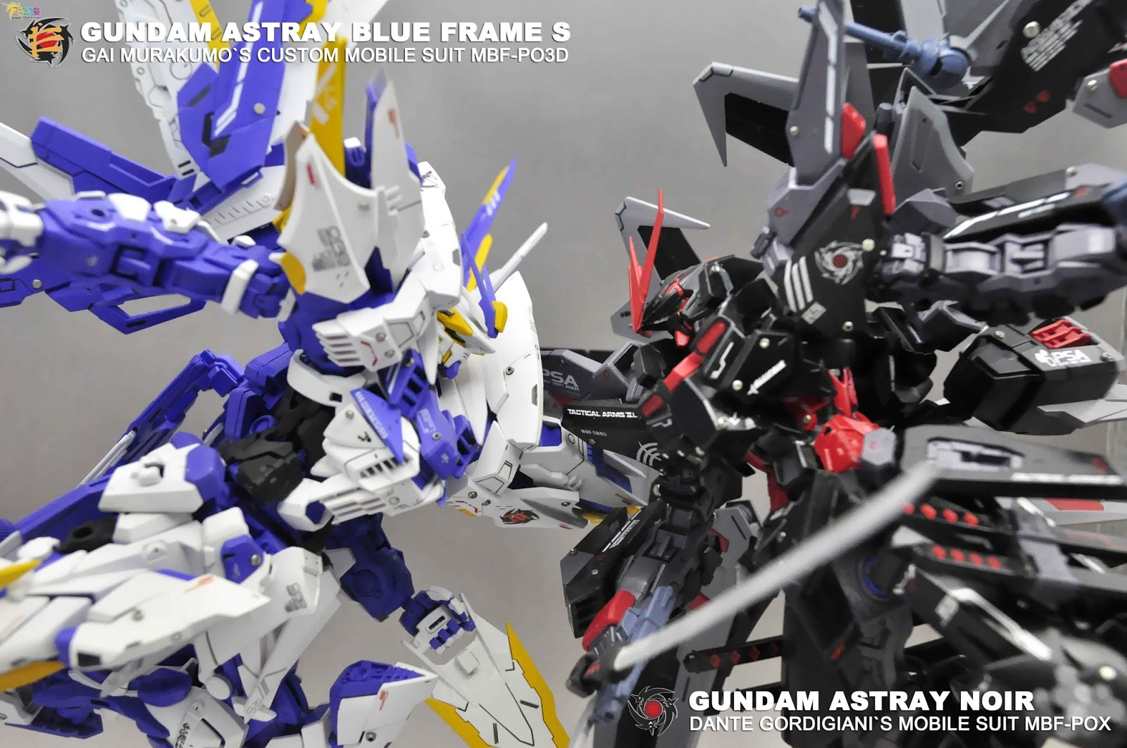 MG 1/100 Gundam Astray Blue Frame S + Gundam Astray Noir - Customized Build