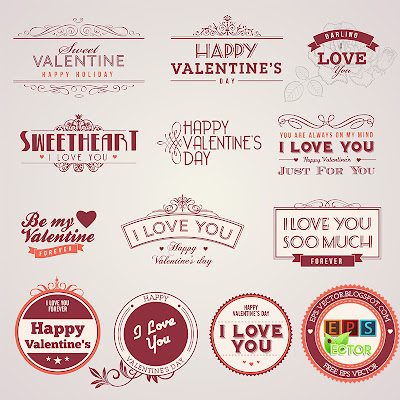 vector Vintage-Valentines-day-labels-8263017