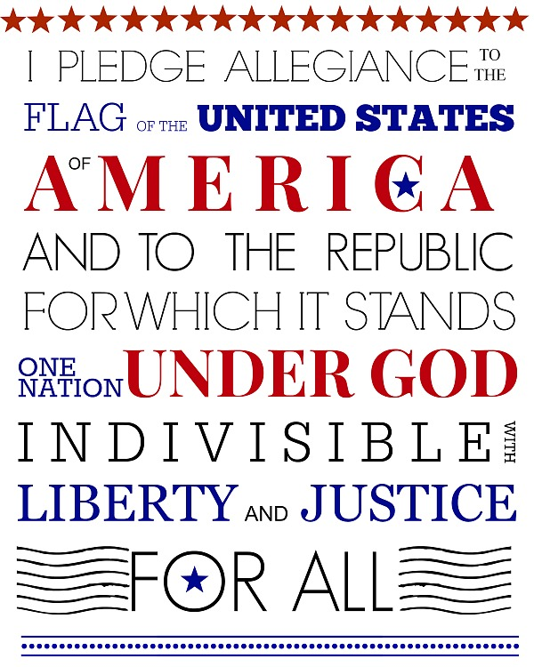 Pledge of allegiance text