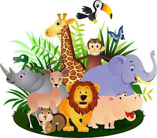 Ilustraciones gratis de los animales de la selva