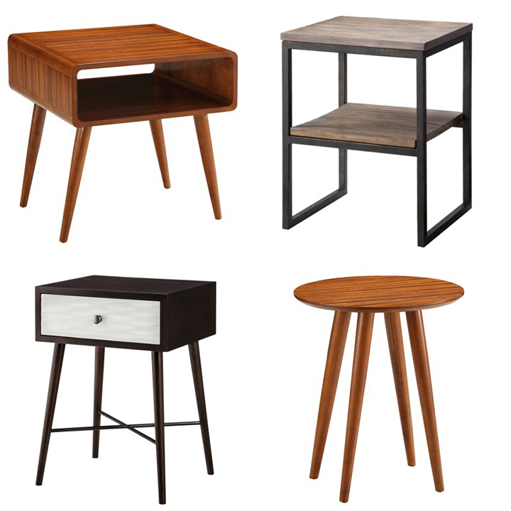 MIDCENTURY MODERN SIDE TABLES.