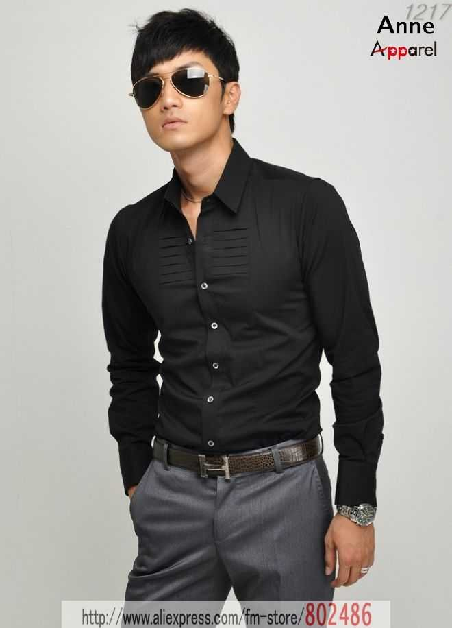 Welcom to new fashion world 2013 and hollyworld actress for Gray dress shirt black pants