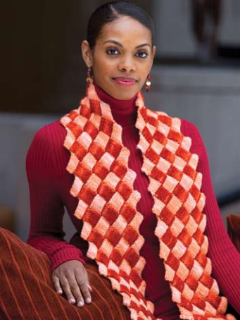 How To Knit Zig Zag Entrelac Knitting Scarf Knitting Unlimited