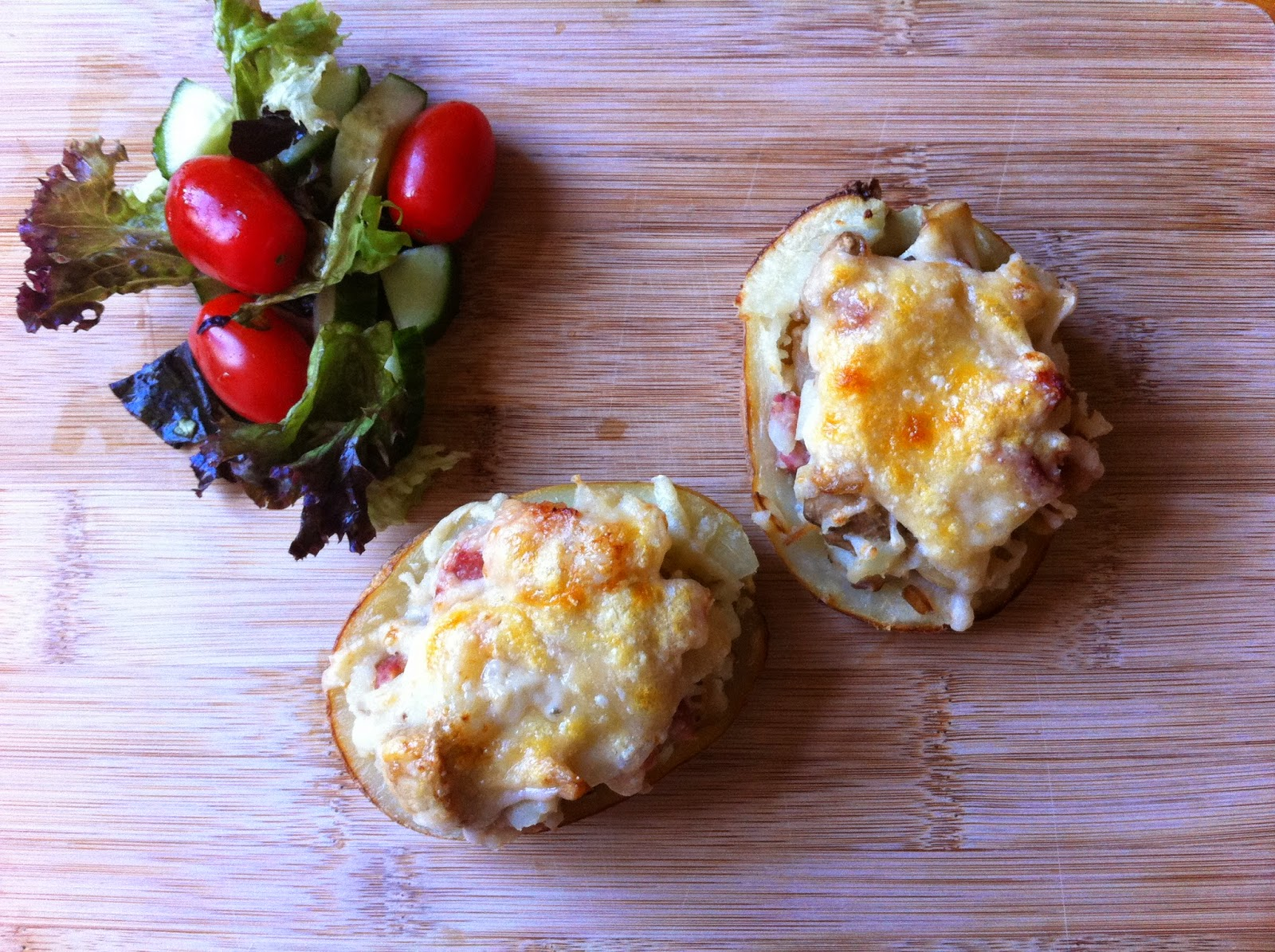 Pancetta Stuffed Jackets Served With Salad