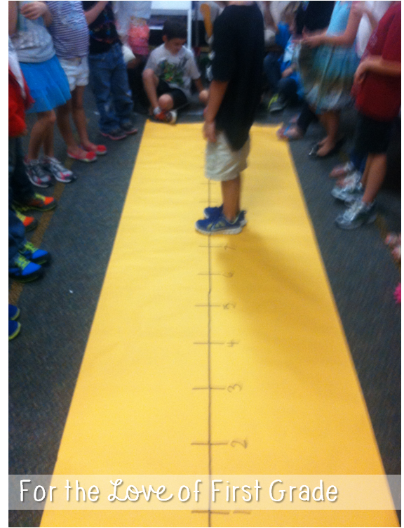 For the love of first grade addition with a number line for Floor number line