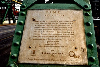 "Placard about ""Time: And a Clock."