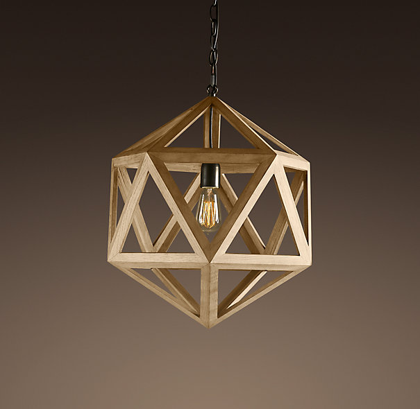 Copy cat chic ralph lauren small dustin dodecahedron wood for When is restoration hardware lighting sale
