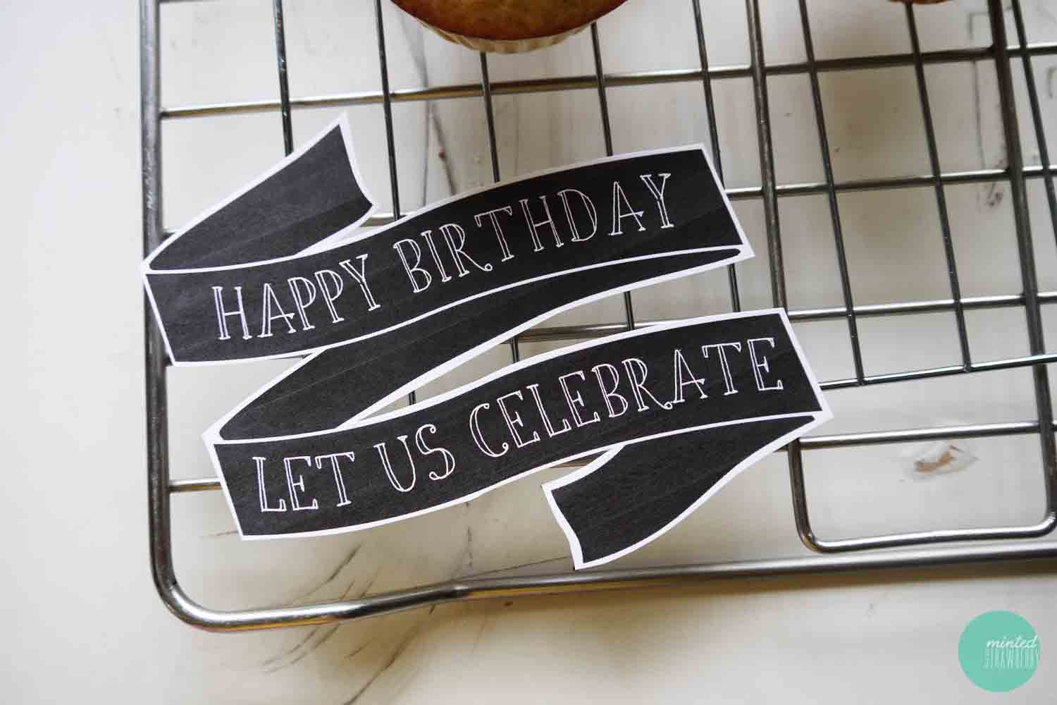 Free Printable: Birthday Cake Banner