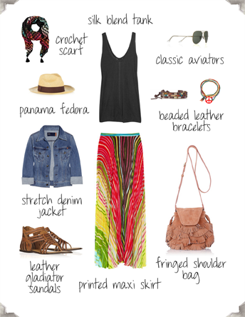 style by red boho chic or hippie chic