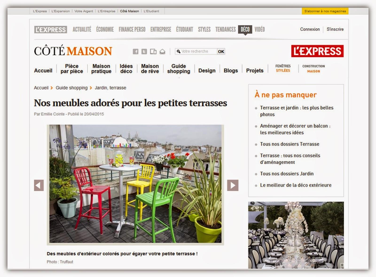 site web déco astuces Côté Maison groupe L'express.fr