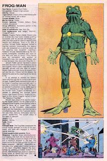 Hombre Rana (ficha marvel comics)