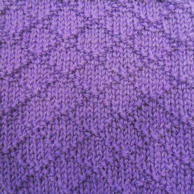 Knit And Purl Stitch Library : This easy design uses only the knit and purl stitches, but the pattern ... Im...