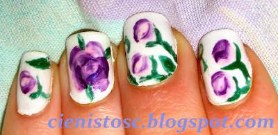"""One stroke manicure nie taki straszny? Tydzień 1 projektu """"Poznaj metody zdobienia paznokci""""."""