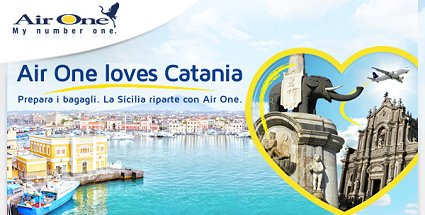 biglietti voli gratis Catania AirOne