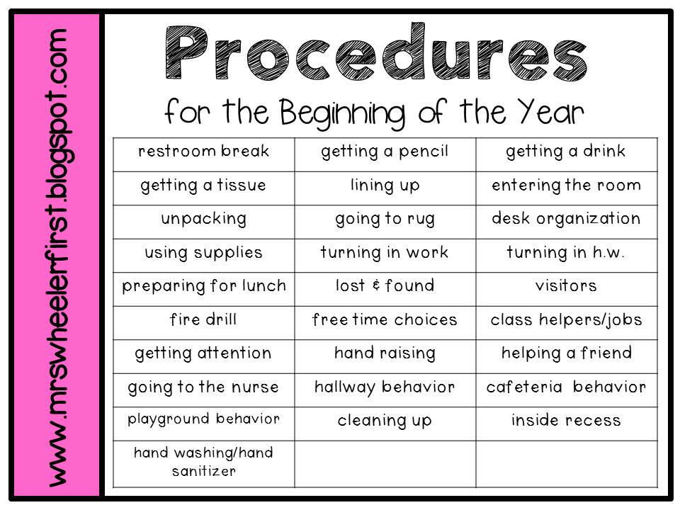 Elementary Classroom Procedures : Mrs wheeler s first grade tidbits classroom management
