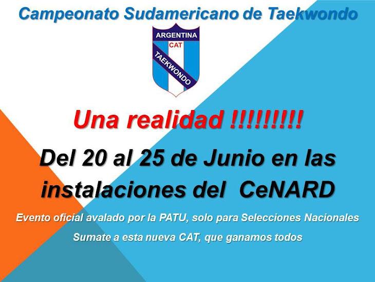 SUDAMERICANO DE TAEKWONDO EN EL CENARD