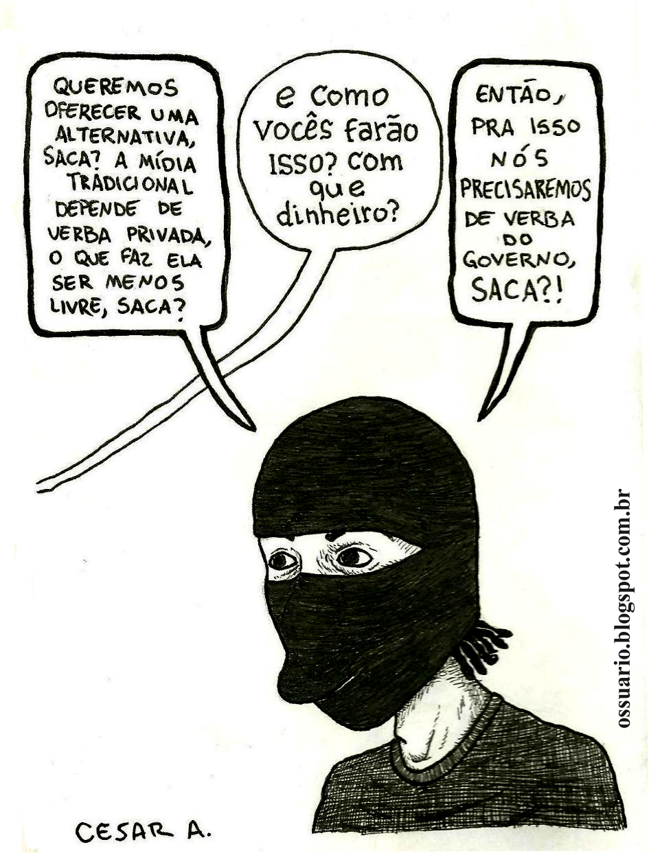 Mídia independente dependente, por Cesar Andrade