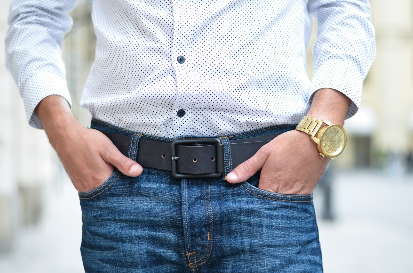zara shirt calvin klein belt diesel watch hm jeans