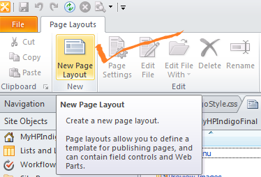 then from the new page layout dialog box select the content type group content type name url name title as shown in the figure below then click on ok