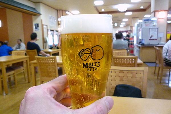 サウナでビール