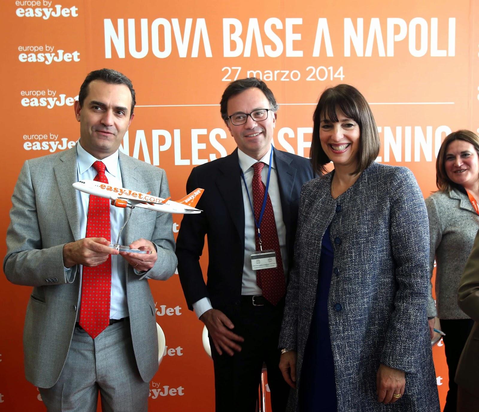 easyJet inaugura la base di Napoli