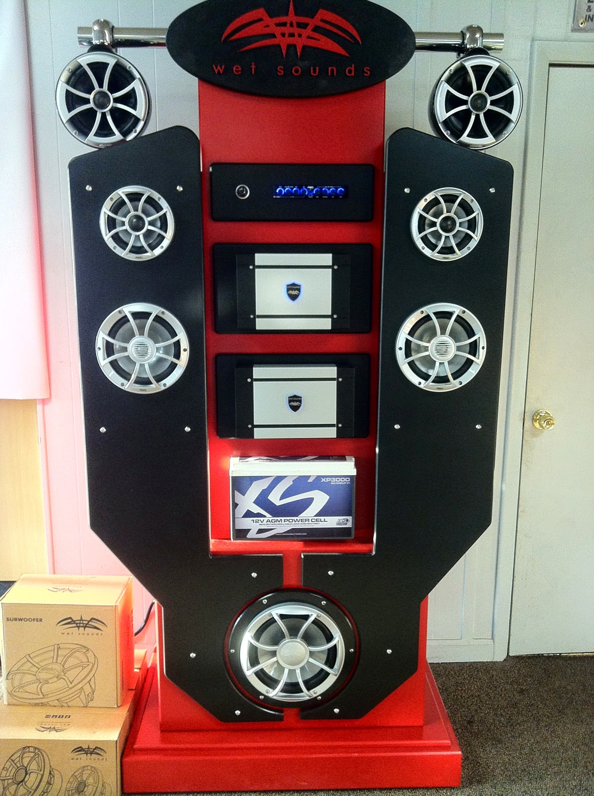 custom boat stereo, custom boat audio, marine stereo system, custom marine stereo installation, Wet Sounds MN