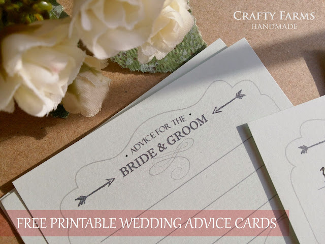 free download printable wedding advice cards diy