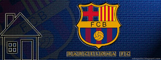 Barcelona FC Facebook Cover Dark-Blue Brick