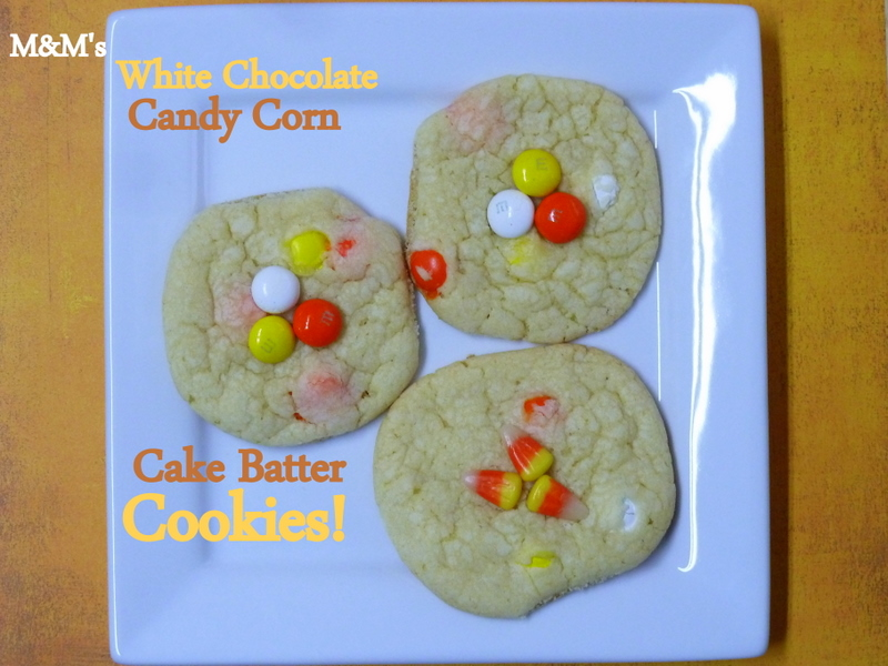 ... of these White Chocolate Candy Corn M&M's. My heart skipped a beat