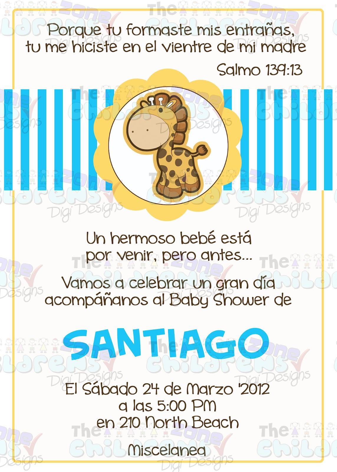 Invitaciones Para Baby Shower De Jirafa